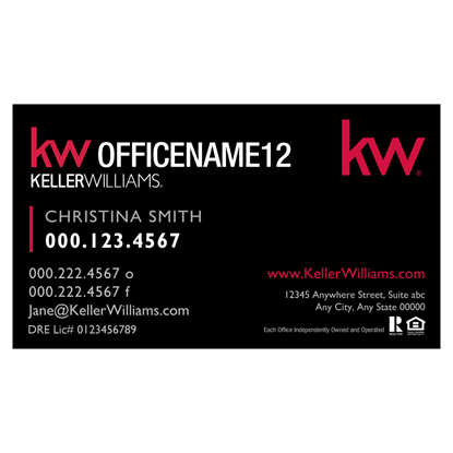 Picture Of Business Card Front Red Series 11 Kw Lg